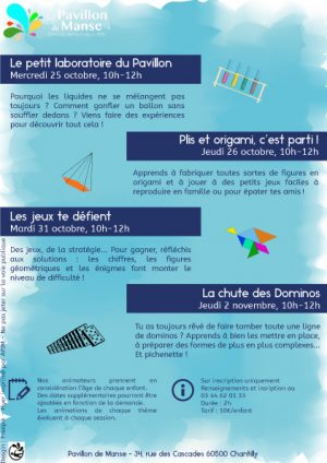 ateliers sciences enfant chantilly oise vacances